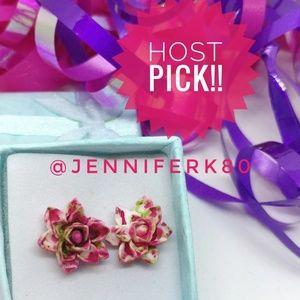 🎉HP🎉 🆕 Lotus Tie Dye Stud Earrings